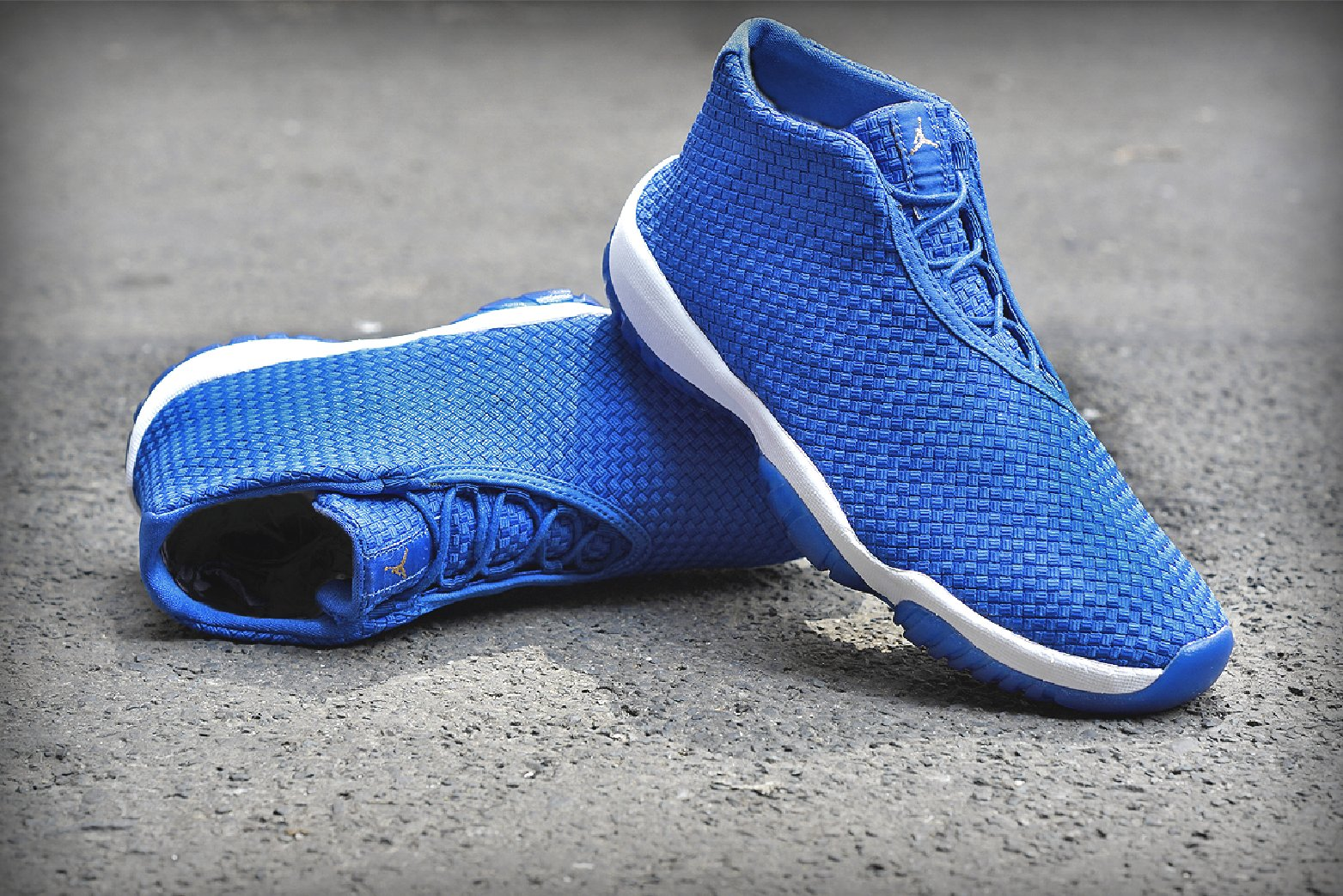 ca08783e14e6 A white midsole and translucent blue sole complete the sneaker. The Varsity  Royal Varsity  air jordan future ...