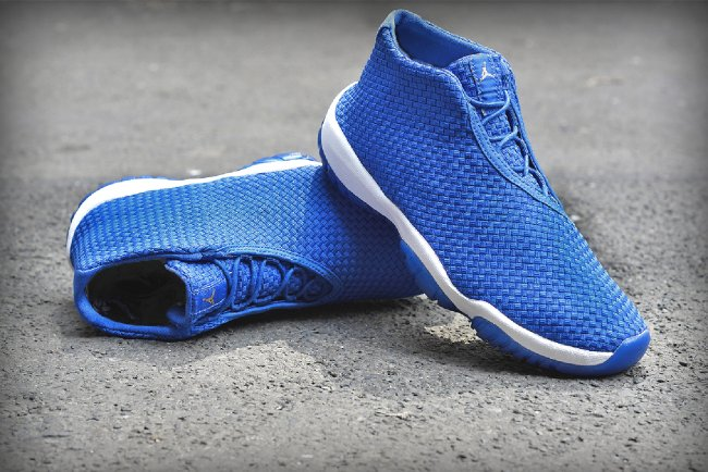 A white midsole and translucent blue sole complete the sneaker. The Varsity  Royal Varsity Royal-White Jordan Future will hit stores on Monday 28947f2bc