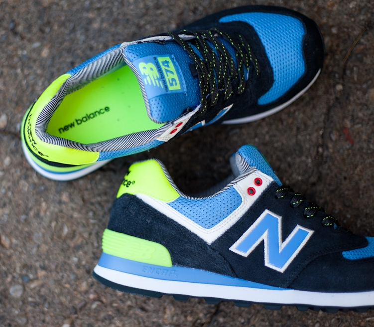 New Balance 574 Blå Neon Grønn 29PRcQHqx1