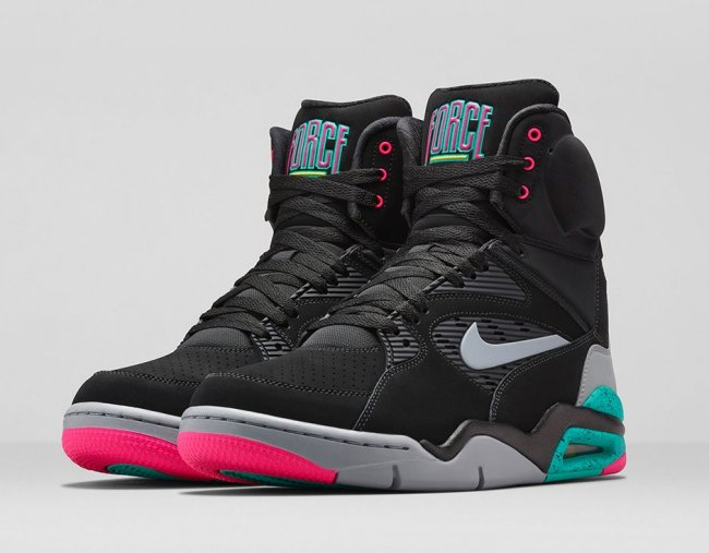 dae900c60870 Nike Air Command Force Color  Black Wolf Grey-Hyper Jade-Hyper Pink Style   684715-001. Release  12 19 2014. Price   200.00