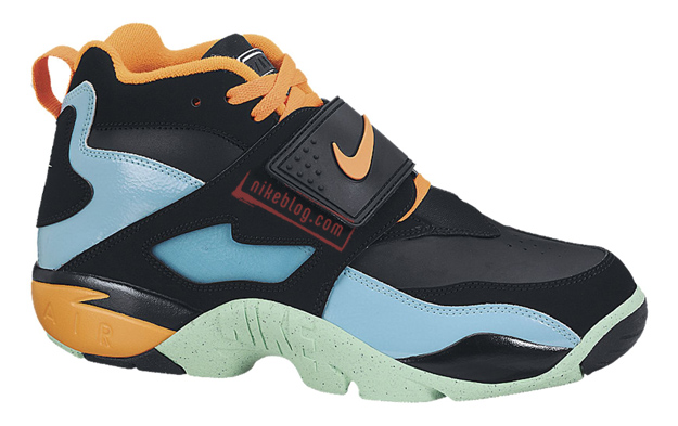 88b7c36b1a Nike Air Diamond Turf Color: Black/Total Orange-Gamma Blue-Green Glow  Style: 309434-010. Release: 11/30/2013. Price: $120.00