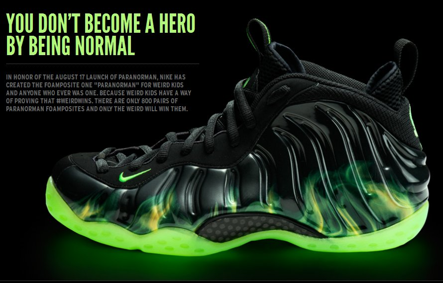 """detailing 3d2b6 3c747 Nike Air Foamposite One """"ParaNorman"""" New Images and Info"""