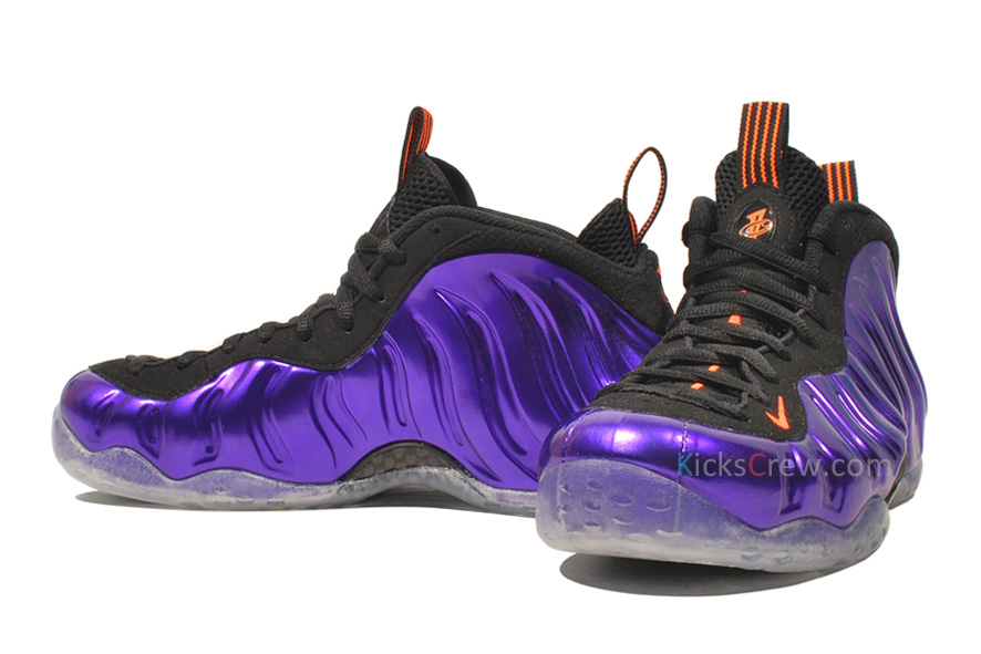 Nike Air Foamposite One Color: Electro Purple/Total Orange-Black Style:  314996-501. Release: 03/02/2013. Price: $220.00