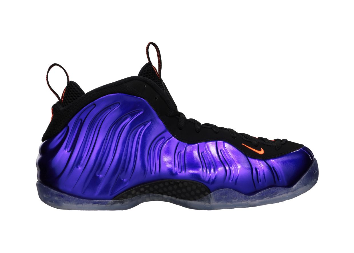nike air foamposite one color electro purple total orange black