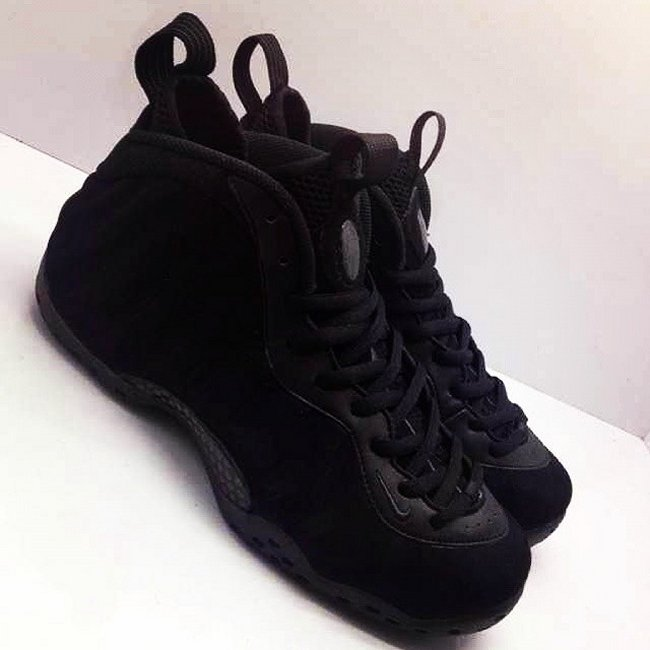 "new arrival 1f6a9 8c185 Nike Air Foamposite One ""Black Suede"" New Images and Release Info"