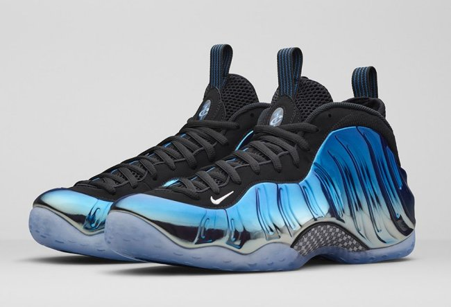 nike air foamposite one blue mirror