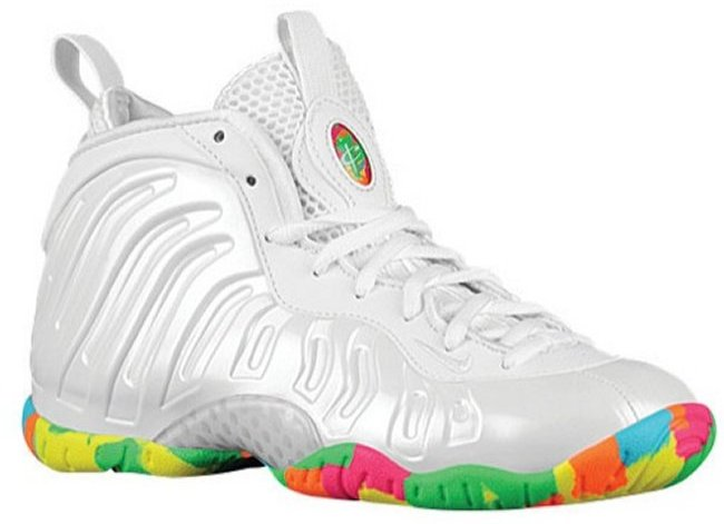 huge discount f5a69 aa077 Nike Little Posite One Color  White Poison Green-Pink Foil-Cascade Blue  Style  644791-100. Release  02 25 2015. Price   180.00