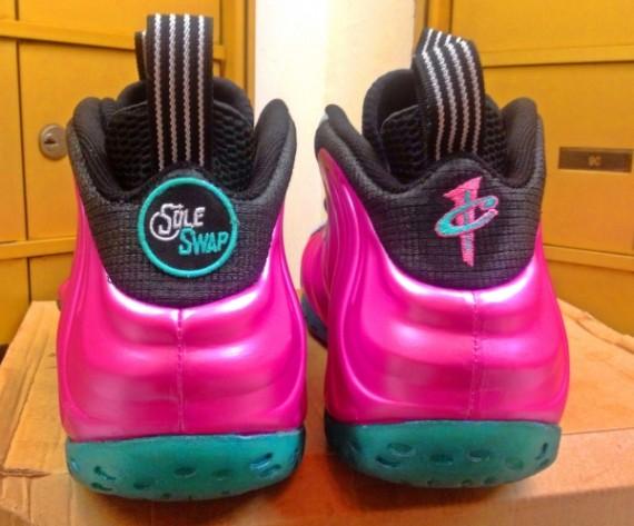 b6e69e68a04 Nike Air Pink Foamposite Size 10.5 Pearlized Metallic Pink Silver Black  Penny