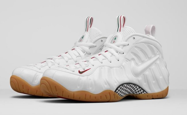 09eefc9e128f ... reduced nike air foamposite pro color white white gym red gorge green  style 624041 102.