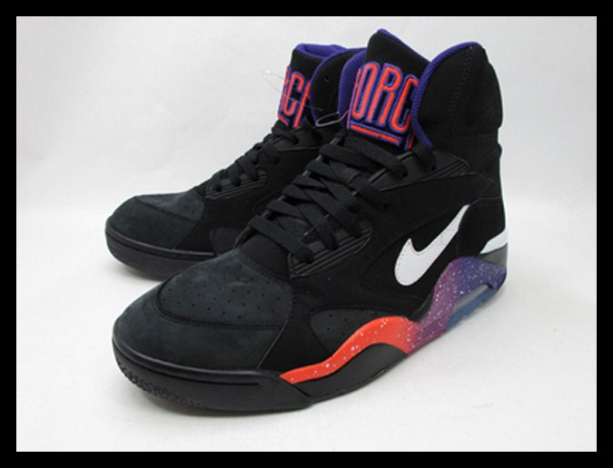 best sneakers f5a81 f7ae1 Nike Air Force 180 High – Black/White-Court Purple-Rave Pink