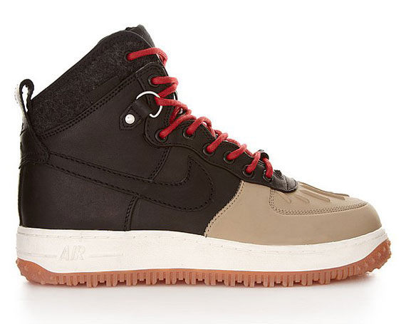 official photos de29b 418bb Nike Air Force 1 High  Duckboot  Color  Brown Tan–Red Style  444745-003