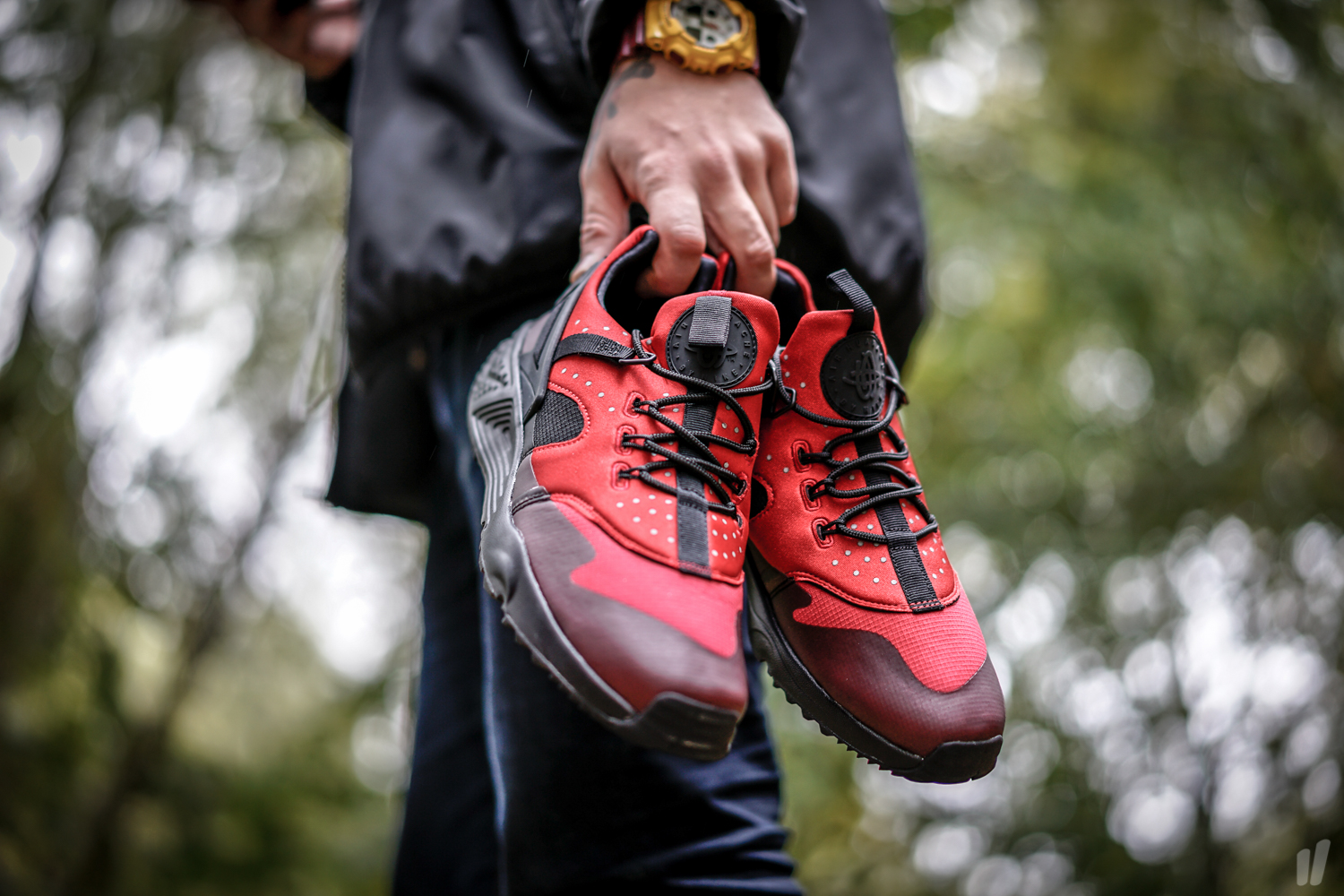 new products 1ca79 c131e ... gym red 47fc9 053b1 good nike air huarache utility 806807 004 triple black  mens ships double boxed new 70a88 34990 ...