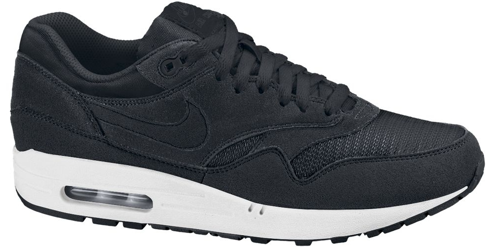 arrives 72f91 97d24 The entire upper consist of black suede and mesh, while a white sole adds  the finishing touches. You can get these now at Nikestore for 100. Nike  Air Max 1