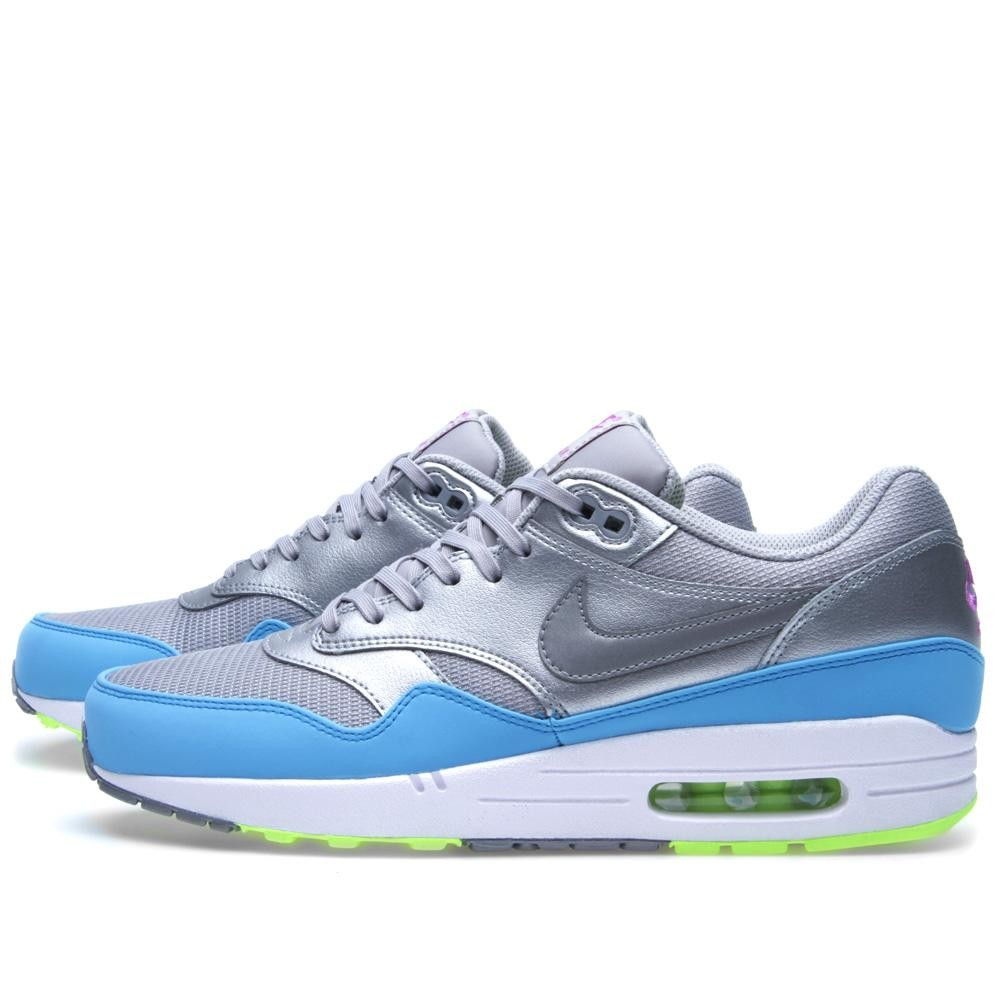 nike air max 1 metallic silver blue
