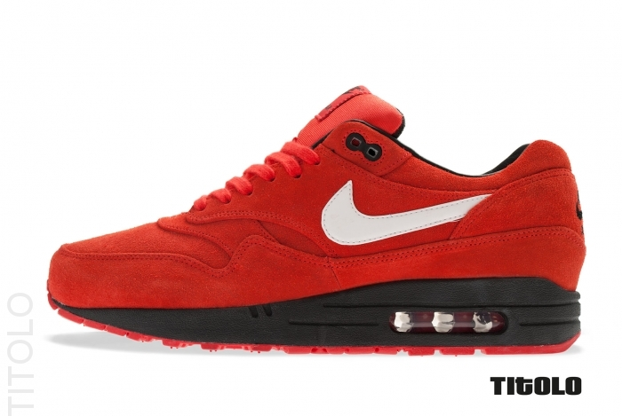 Nike Air Max 1 Premium EM *Engineered Mesh London* (Mahogany Red Team Red Grey Strata)