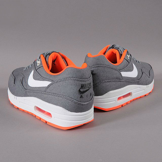 new product 56ebe 7cd1e Nike Air Max 1 Premium – Cool Grey   White-Total Orange