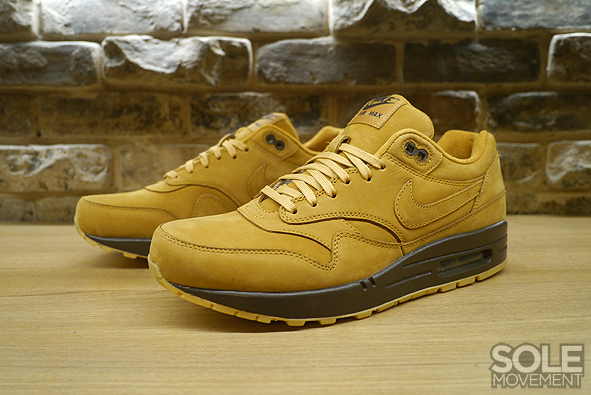 """buy popular affaa 33ff7 The Nike Air Max 1 """"Wheat"""" will release alongside the Nike Air Force 1 Mid """" Wheat"""" on November 1, retailing for  130."""