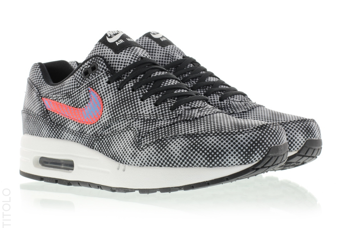 newest cdb00 23542 Nike Air Max 1 FB Color  Black Bright Crimson-White-Blue Legend Style   744491-001