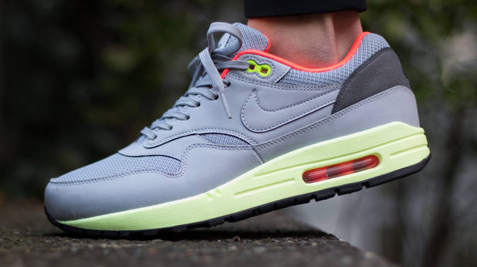 3bf9dc95209fd Nike Air Max 1 FB Premium QS[665874-700]NSW Running Mercurial Yellow/Neo  Lime 9