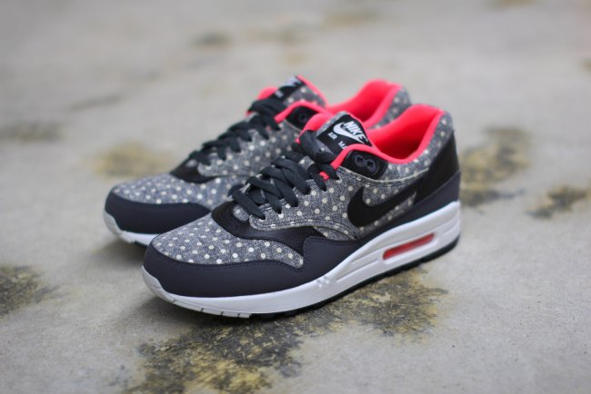 sale retailer d4875 f2ed7 Nike Air Max 1 LTR Premium Color  Anthracite Black-Granite-Total Crimson  Style  705282-002. Release  03 02 2015. Price   125.00