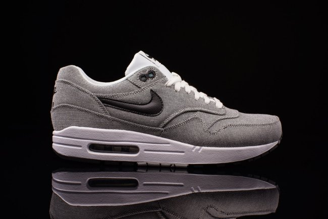 100% authentic 9be20 5b475 Nike Air Max 1 PRM Canvas Color  White Black Style  512033-103