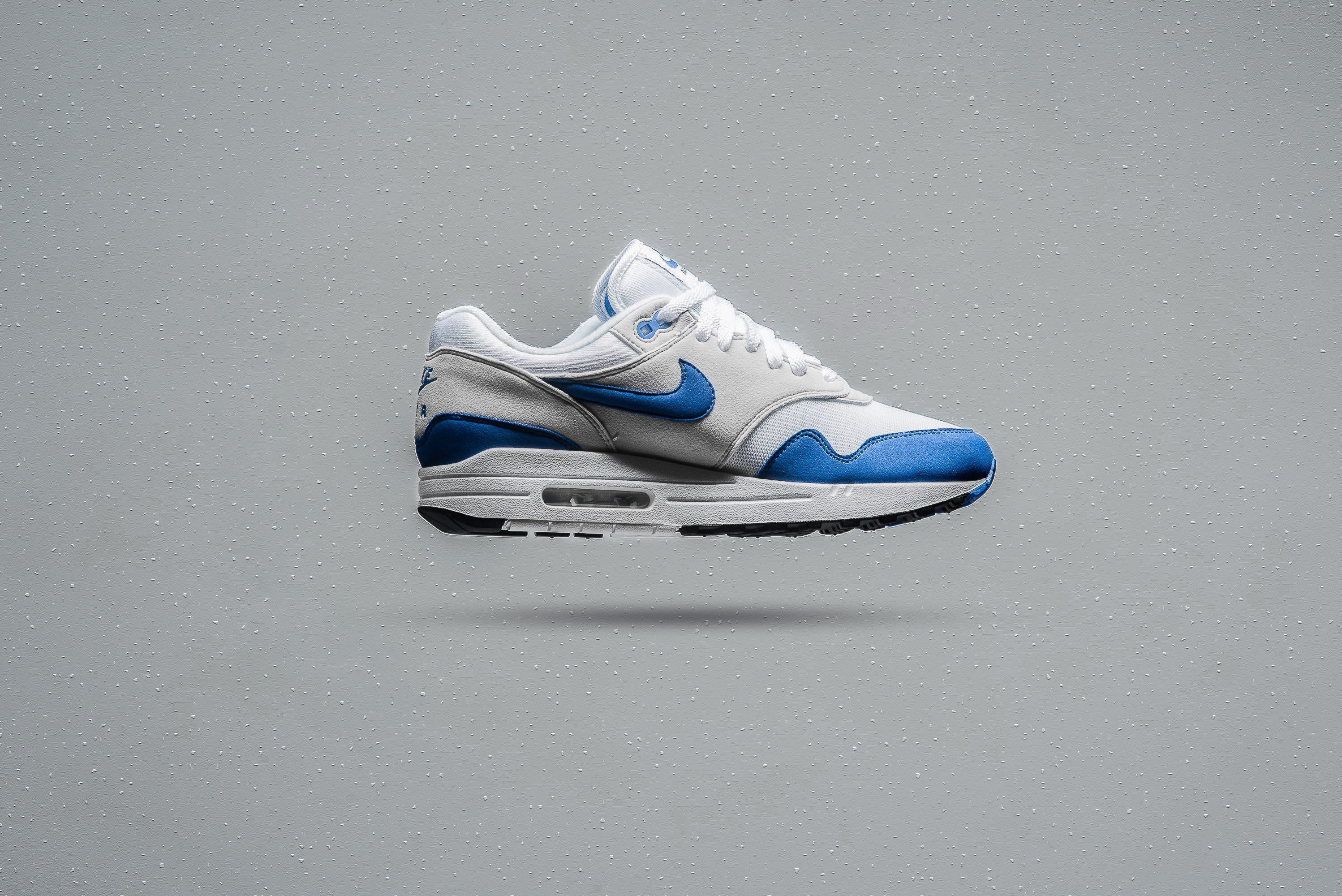 half off bd0c9 5edc5 Nike Air Max 1 Anniversary Color  White Game Royal-Neutral Grey Style Code   908375-102. Release Date  10 27 2017. Price   140.00