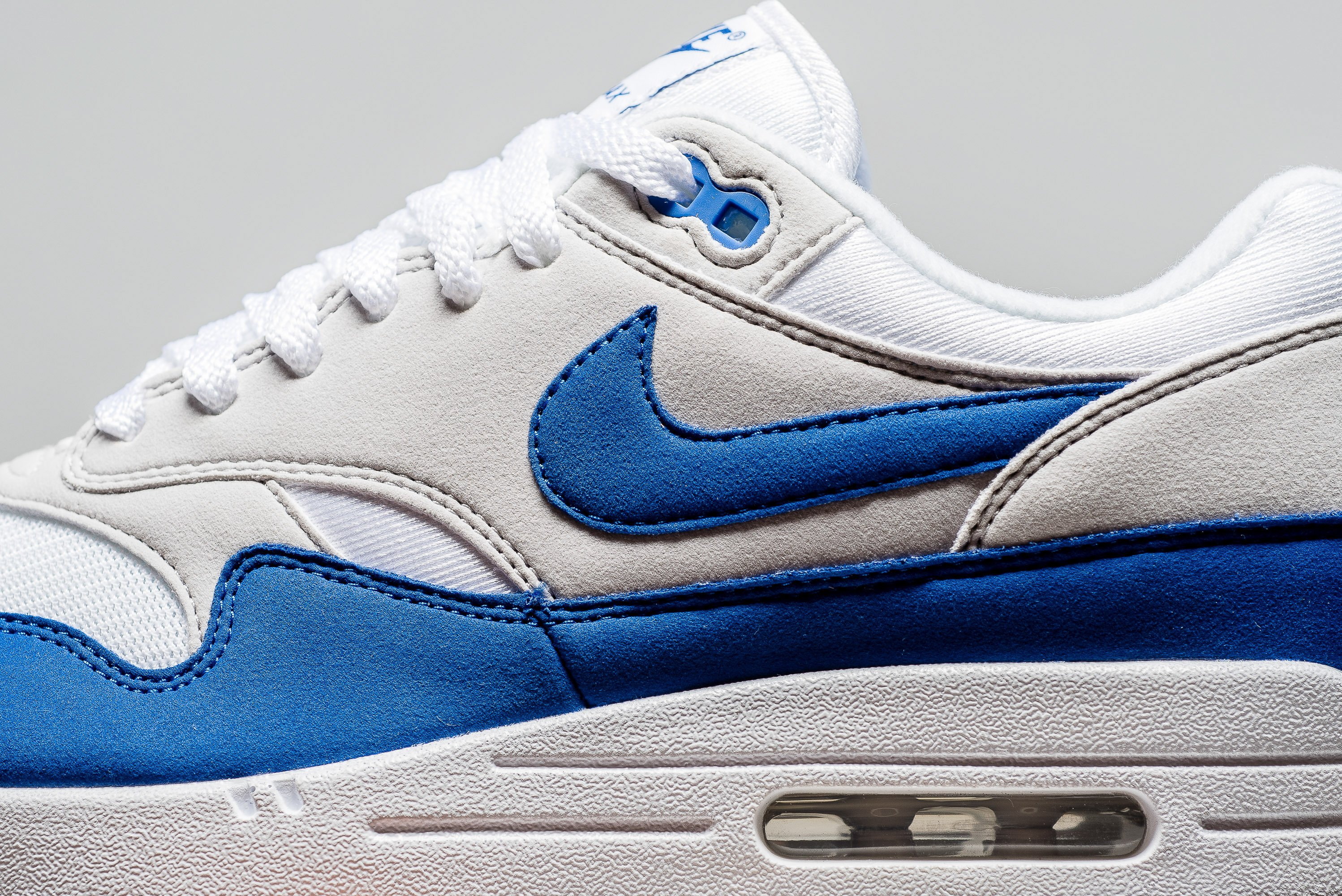 uk availability 5ed94 6bb42 Nike Air Max 1 OG Anniversary White Royal Blue DS sz 8-13 908375-101 Limited