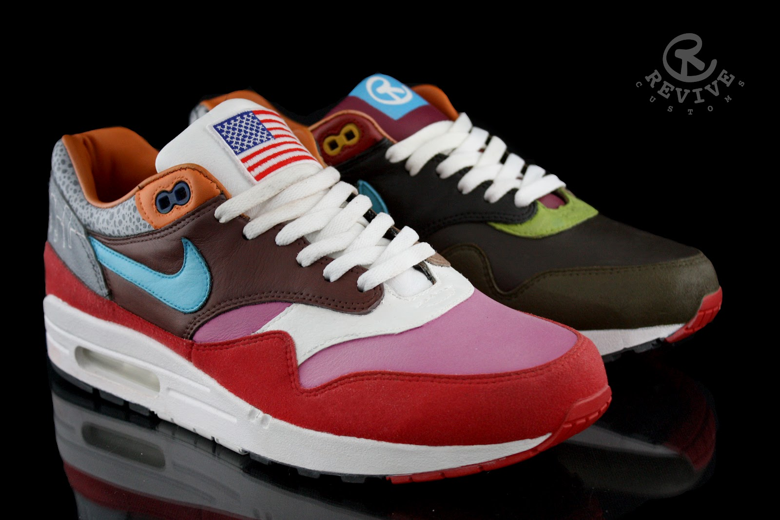 nike air max 1 what the am one customs by revive. Black Bedroom Furniture Sets. Home Design Ideas