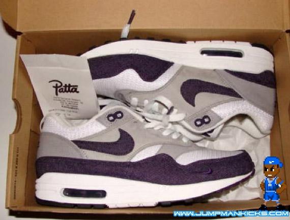 the latest 8816e 3e039 Patta x Nike Air Max 1 White Grand Purple Available Now