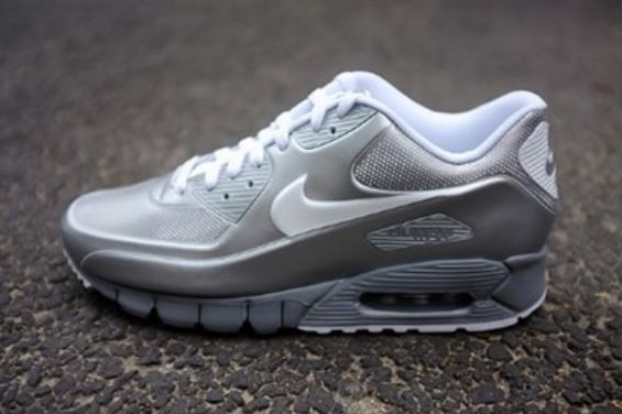 nike air max 90 current vt lsr metallic silver