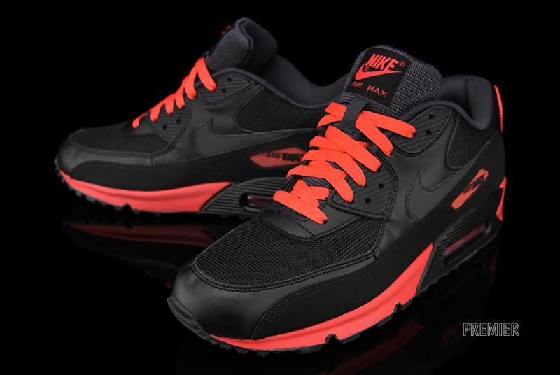 air max 90 red black