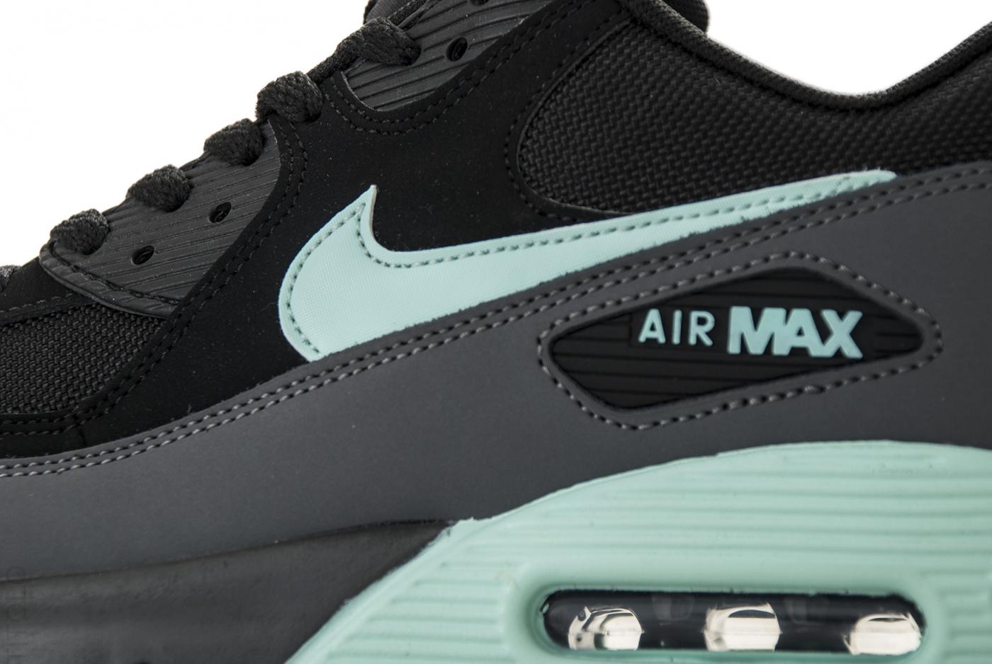 Womens Nike Air Max 90 Essential Black Mint Candy Dark Grey