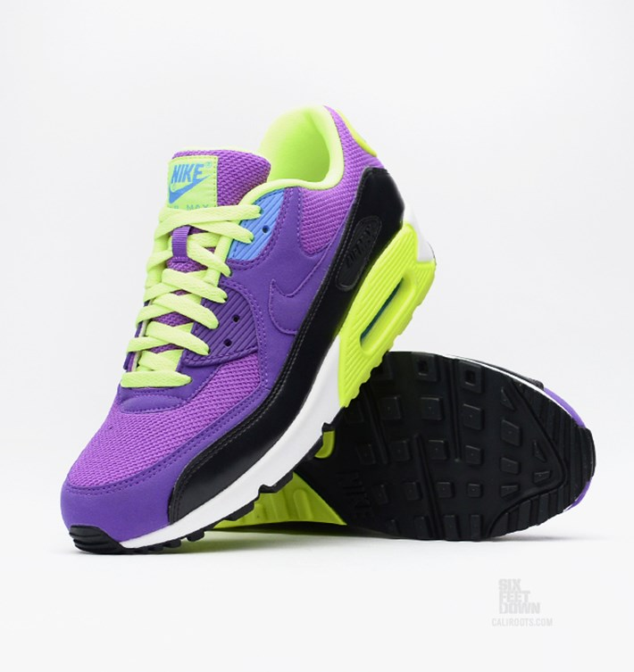 Nike Air Max 90 GS Purple Hyper Grape Pink Volt