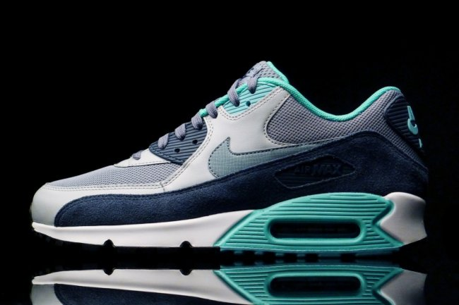 hot sale online 986d2 dc877 Nike Air Max 90 Essential Color Blue GraphiteWolf Grey-Midnight Navy-Blue  Graphite Style 537384-408. Price 110.00