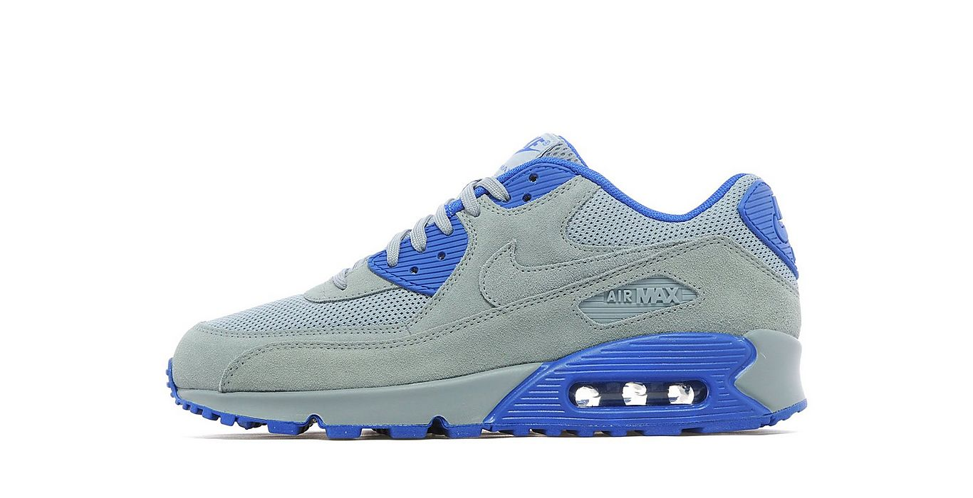 77e0956d0f363b Nike Air Max 90 Essential Grey   Royal Blue - Air 23 - Air Jordan ...