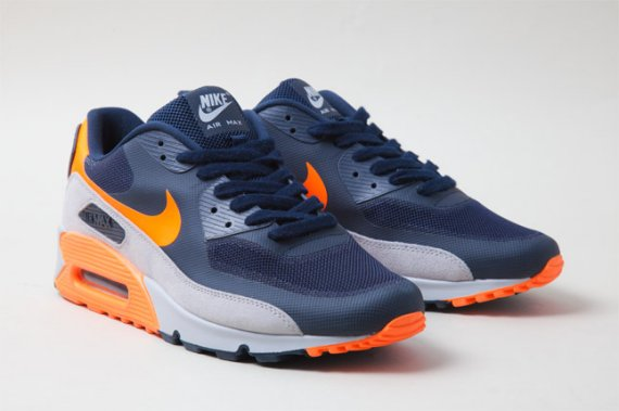 Mens Nike Air Max 90 Premium Chicago Bears Edition Running