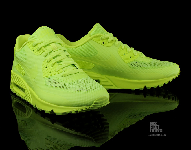 2011 nike air max 90 hyperfuse neon yellow shoes