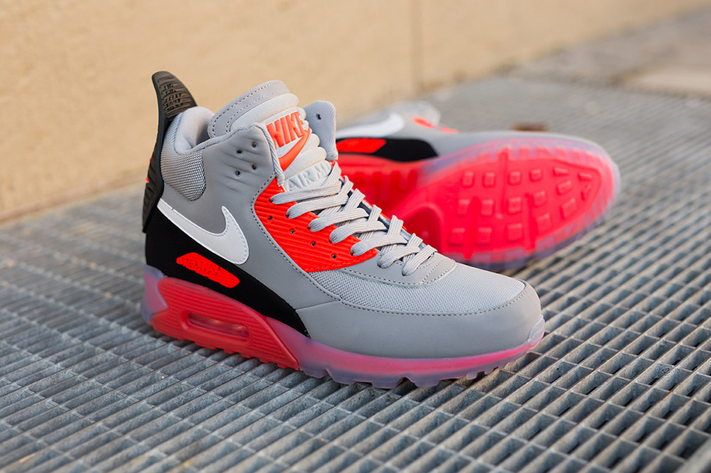 Nike Air Max 90 Sneakerboot Ice Wolf GreyWhite Infrared Ceny i opinie Ceneo.pl