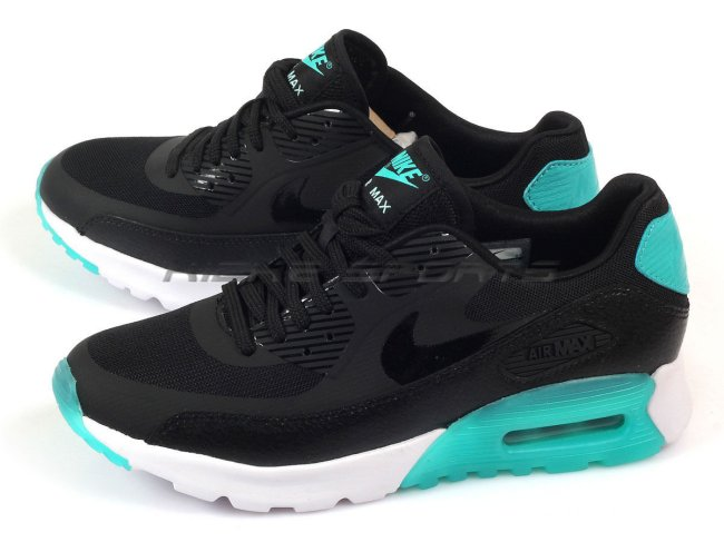 b44fd3592323 Nike Womens Air Max 90 Ultra Essential Color  Black Black-Light  Retro-Artisan Teal Style  724981-001