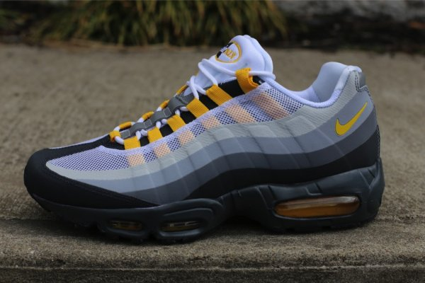 designer fashion 3e68d ed041 Mens Nike Air Max 95 No Sew Anthracite Varsity Maize Grey Running Shoes Sz  13