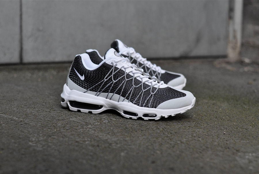 the best attitude 39a67 06346 ... Nike Air Max 95 Ultra Jacquard – White White-Wolf Grey-Dark Grey ...