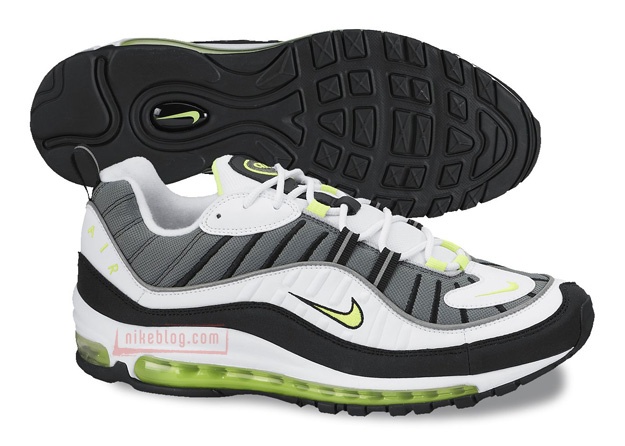 nike air max 98 black volt