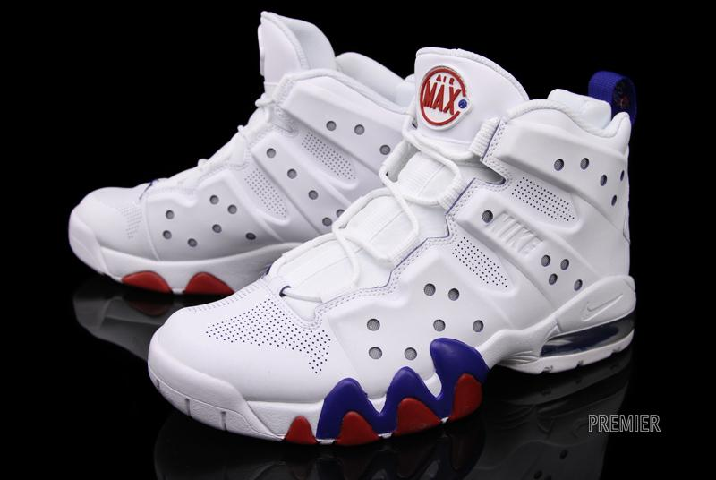 detailed images new styles huge discount Nike Air Max Barkley - White/White-Old Royal-Gym Red