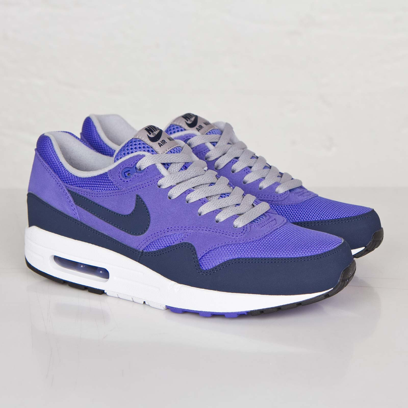 nike air max 1 essential purple trainers