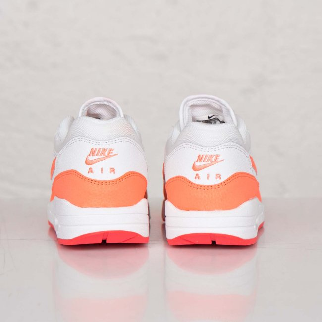 new style 203c9 79808 Nike Womens Air Max 1 Essential Color  White Sunset Glow-Hot Lava Style   599820-114. Price   100.00
