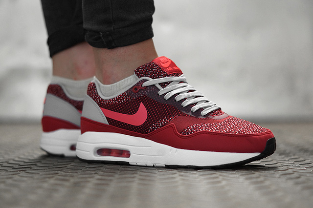 Details about NEW NIKE AIR MAX 1 JCRD Jacquard Trainer 8 ~ 12 Gym RedLaser Crimson 644153 600