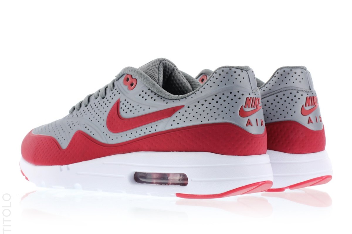 size 40 f545c dea8e Nike Air Max 1 Ultra Moire Metallic Cool Grey   Gym Red