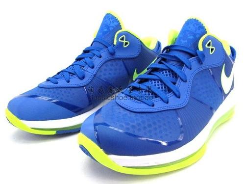 79a940c52ef Nike Lebron 8 V 2 Low Sprite Treasure Blue White-Volt 456849 401 2011 SZ 9.5