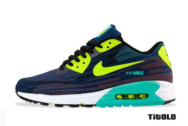 a3d3c476085c Nike Air Max Lunar 90 Jacquard Color  Black Farc Green-Dusty Cactus-Brave  Blue Style  654468-002