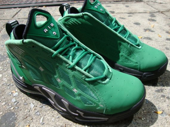 hot sale online 7fee7 0e6f9 ... with the exception of black and metallic silver accents, and a matching  black sole. You can get the Pine Green Black Nike Air Max Pillar at select  ...